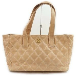 Chanel Tan Quilted Leather Tote